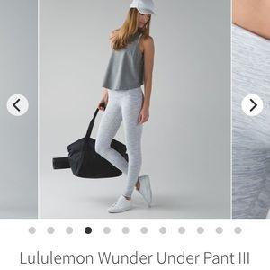 Lululemon Wunder Under Pant Space Nimbus